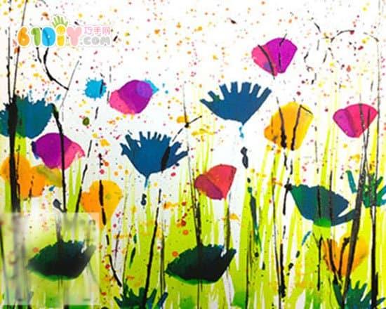 儿童绘画 美丽的花园