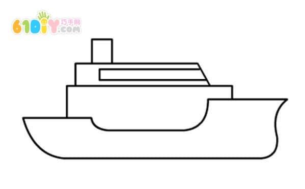 军舰简笔画步骤教程