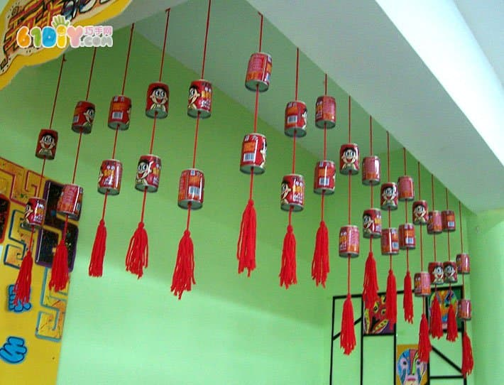 幼儿园旺仔易拉罐吊饰