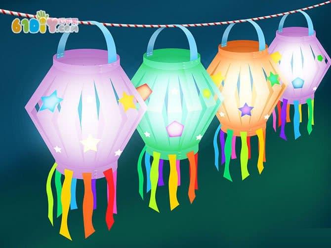 儿童手工制作中秋节纸灯笼