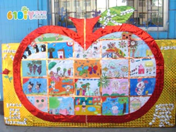 幼儿园绘画作品展布置