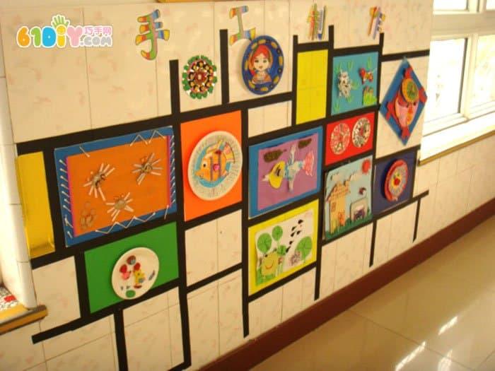 美工角 墙面 布置图 美工区 巧巧手 幼儿手工网图片