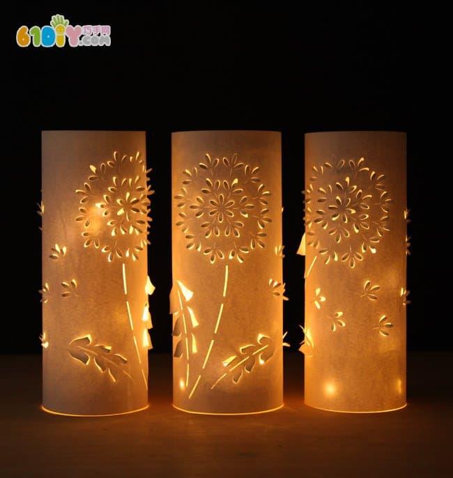 中秋节手工 漂亮的纸雕灯笼