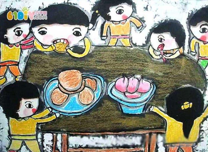 中秋节儿童画作品