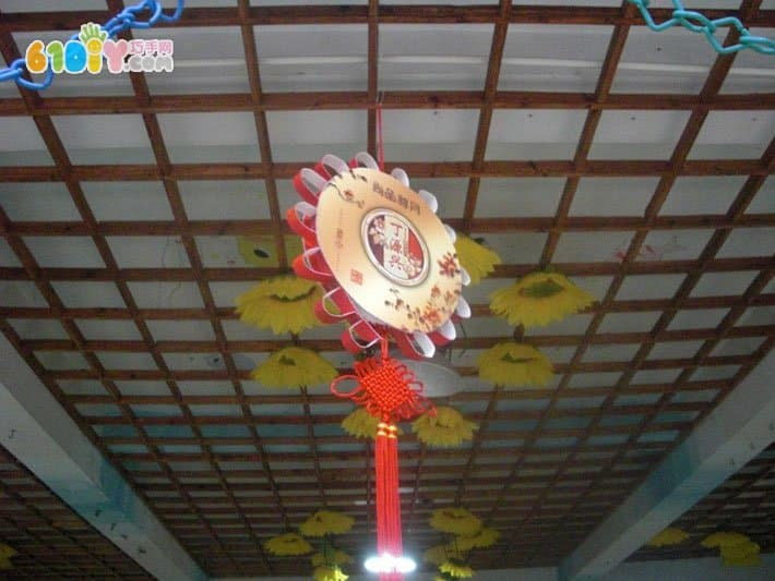 幼儿园中秋节走廊挂饰