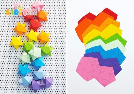 立体纸艺 星星折纸_星星折纸_巧巧手幼儿手工网