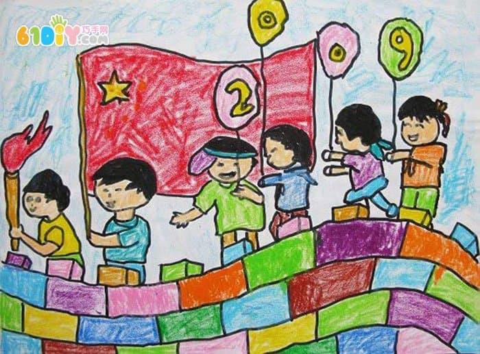 长城儿童画图片