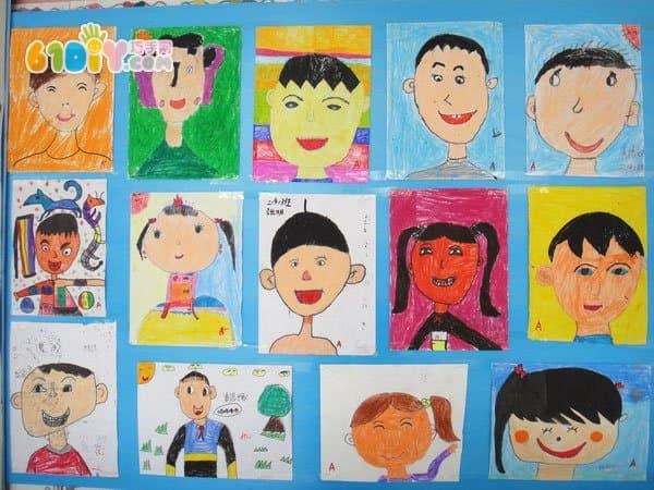 儿童绘画作品 我的自画像