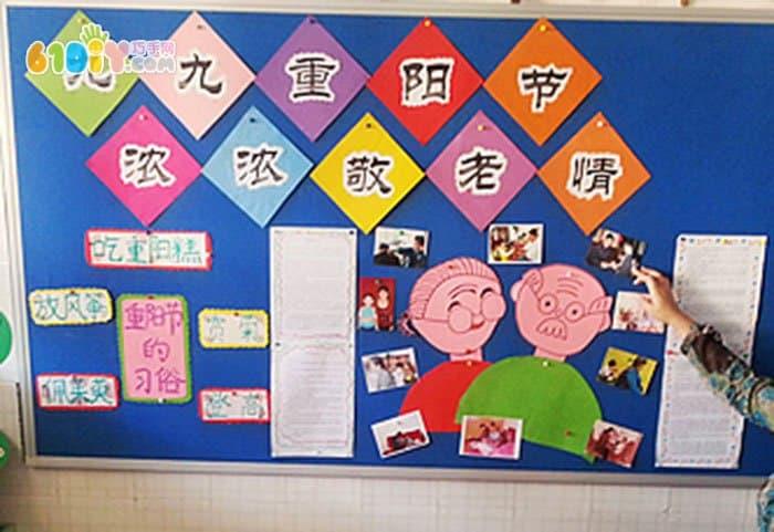 幼儿园重阳节主题墙