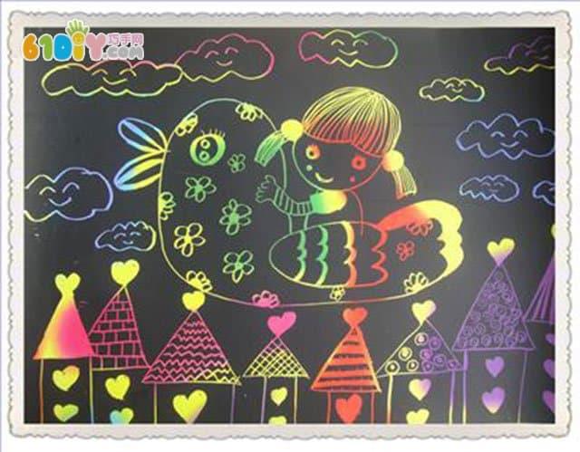 儿童刮画作品图片