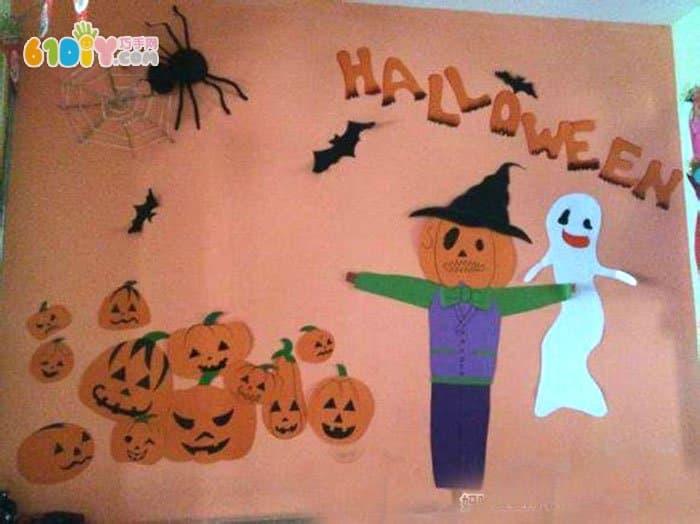 幼儿园万圣节手工海报设计