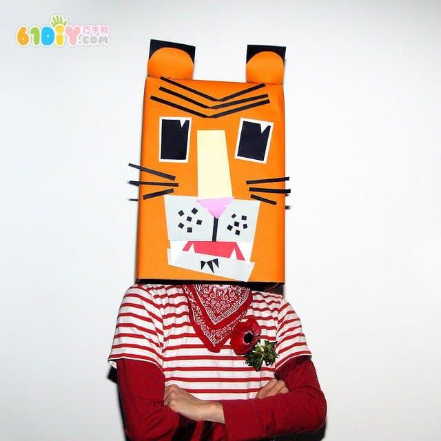 29款有趣搞怪的纸箱动物装扮手工(3)