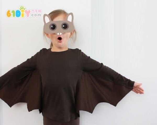 亲子DIY 自制万圣节蝙蝠服装