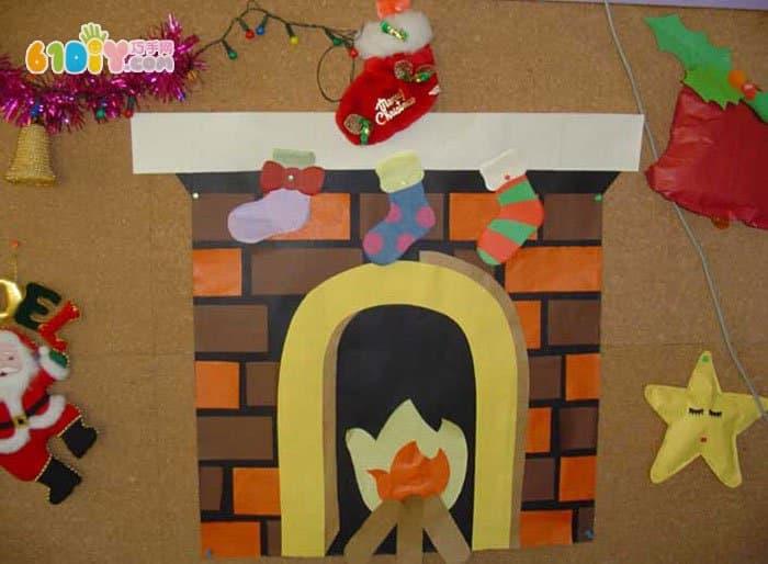 幼儿园圣诞节主题墙布置光盘创意手工_折纸大全