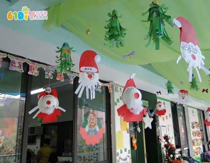 幼儿园圣诞节吊饰 可爱的圣诞老人