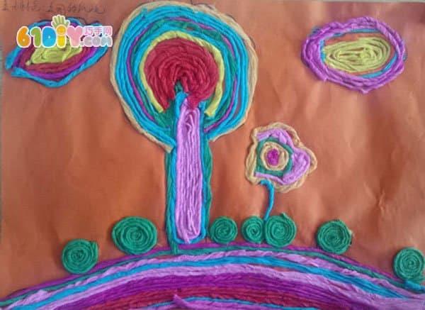小朋友的纸绳画作品