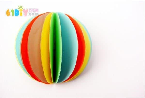 儿童diy制作简单的纸球灯笼