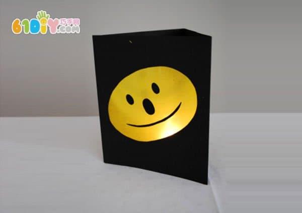 儿童新年手工制作笑脸灯笼