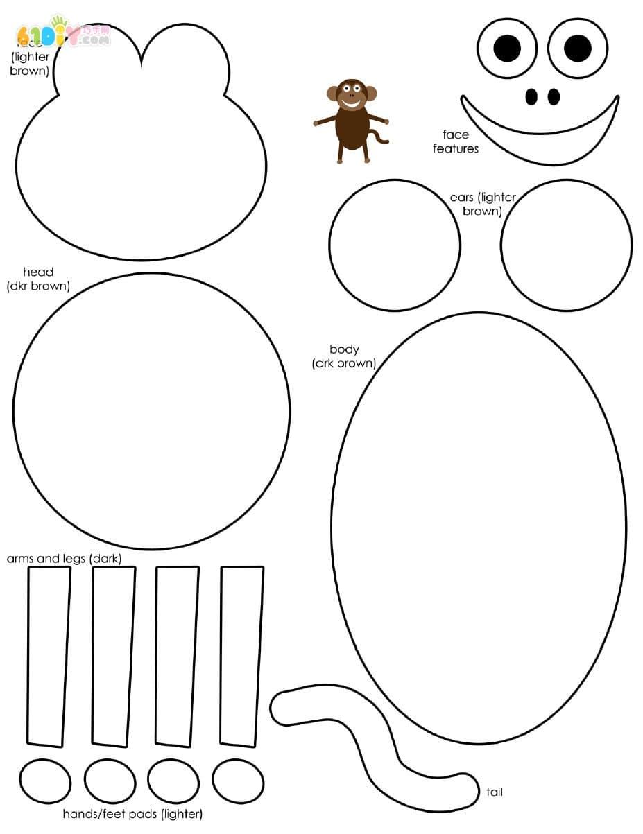 既简单又漂亮的可爱小猴子画法