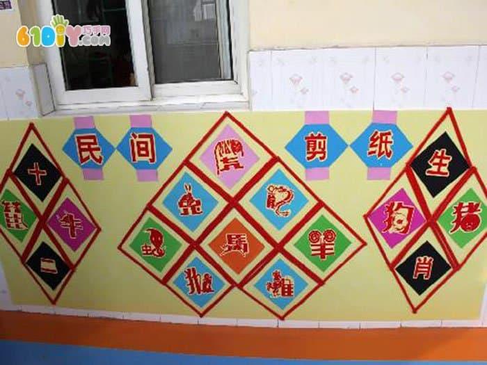 首页 幼儿园环境布置 节日 新年春节  中国风环创 十二生肖剪纸