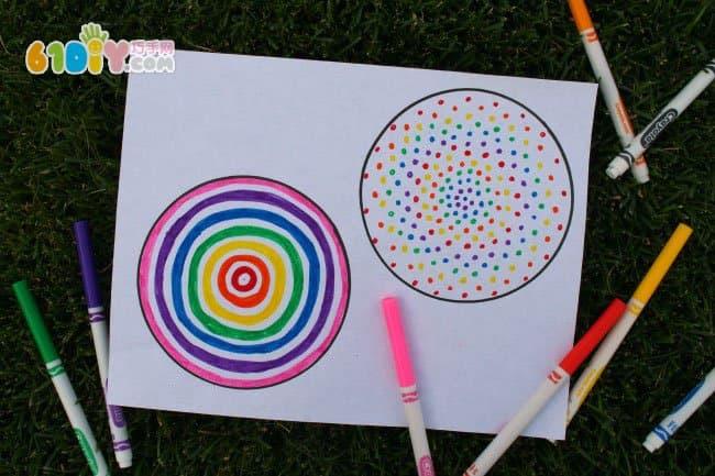 儿童创意手工 变幻的拉线陀螺