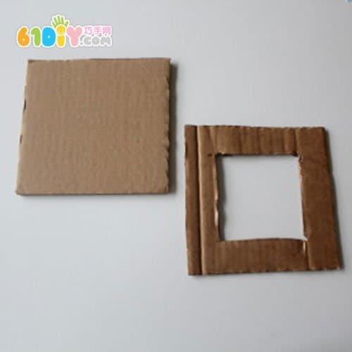 纸板废物利用制作相框