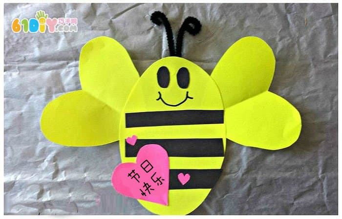 春天儿童手工 可爱小蜜蜂