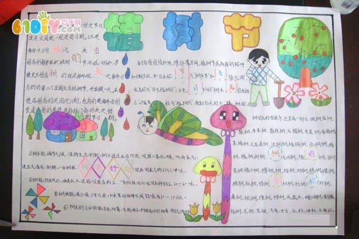 小学生植树节手抄报作品(2)