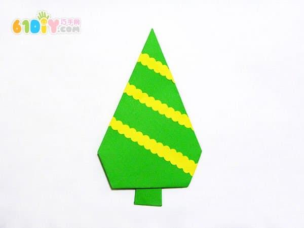 幼儿园植树节手工 漂亮的折纸树