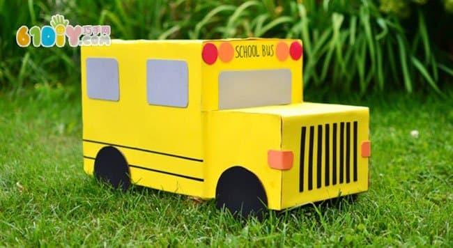 幼儿园玩教具 纸箱汽车diy图片