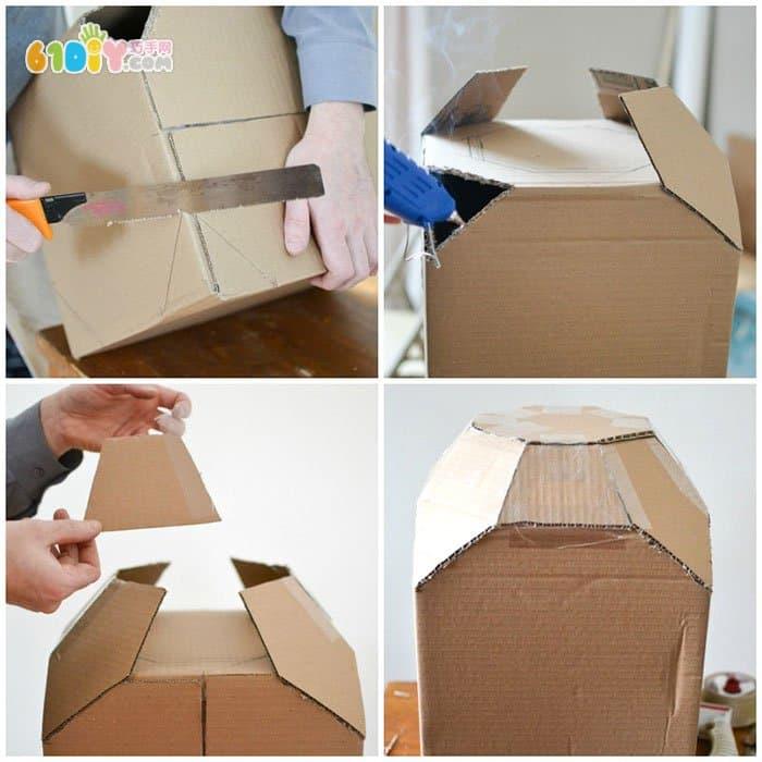 怎样用废纸板制作宇宙飞船_纸盒手工_巧巧手幼儿手工网