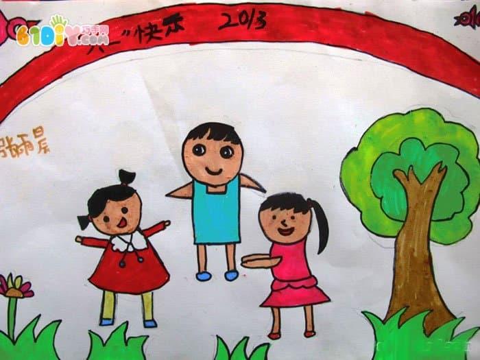 六一儿童节儿童绘画作品