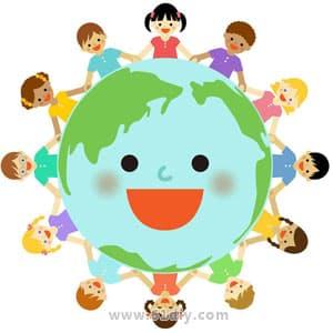 地球日手工 可爱的地球娃娃. 儿童地球日手工  美丽的地球.