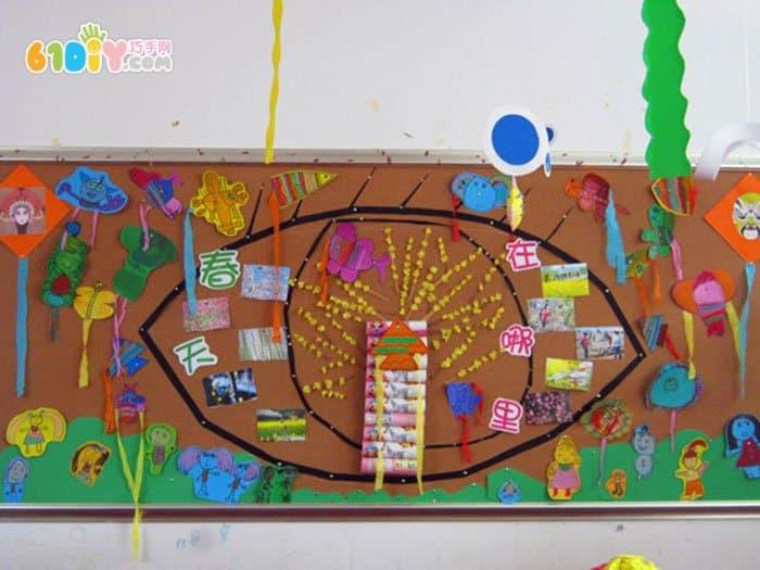 幼儿园美工室主题墙饰设计图片展示