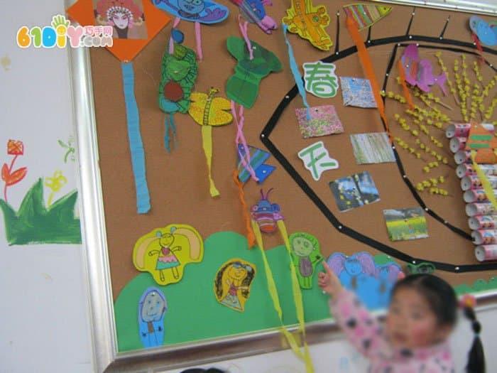 幼儿园春天在哪里主题墙