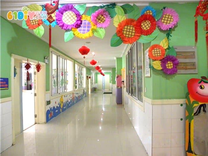 幼儿园向日葵吊饰布置_吊饰_巧巧手幼儿手工网