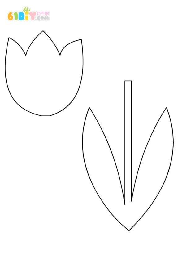幼儿制作简单的郁金香贴画