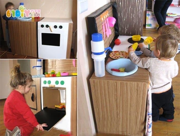 娃娃家厨房道具手工制作_纸盒手工_巧巧手幼儿手工网