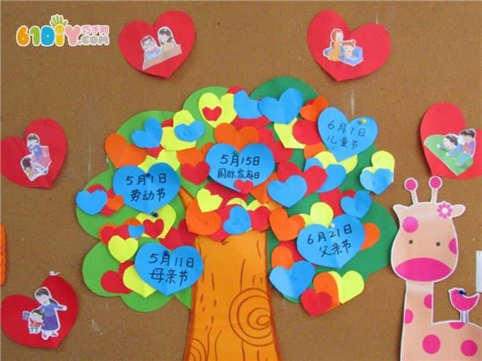 幼儿园主题墙 爱劳动的好宝宝