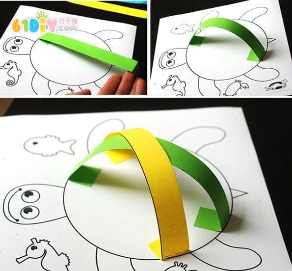 儿童手工 立体乌龟手工制作