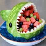 西瓜皮创意卡通动物造型 大鲨鱼