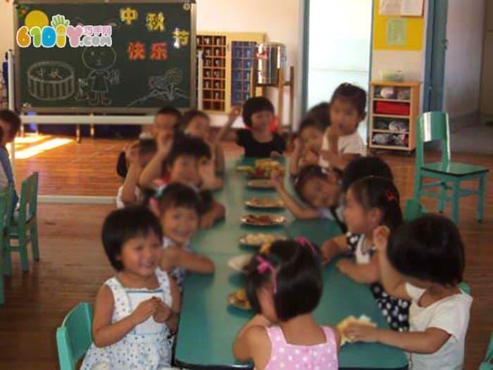 幼儿园中秋节活动小黑板
