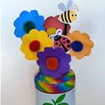 清新的小花玻璃瓶diy. 矿泉水瓶制作花格子大象艾玛.图片