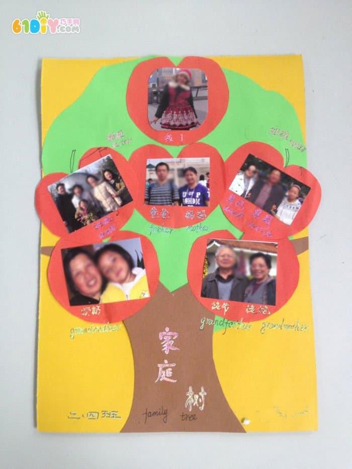 幼儿园手工家庭旧物diy-幼儿园家庭树图片幼儿园自制风筝
