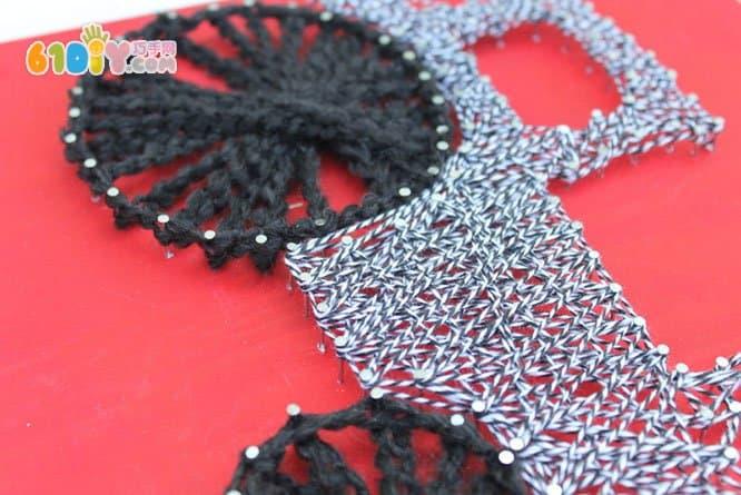 钉子绕线装饰画手工制作 综合其它 巧巧手幼儿手工网