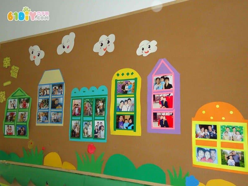 全家福照片墙布置图片_巧巧手幼儿手工网
