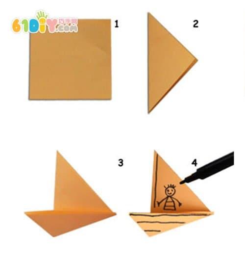 儿童折纸贴画手工 美丽的大海