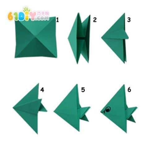 儿童折纸贴画手工 美丽的大海_鱼折纸_巧巧手幼儿手工