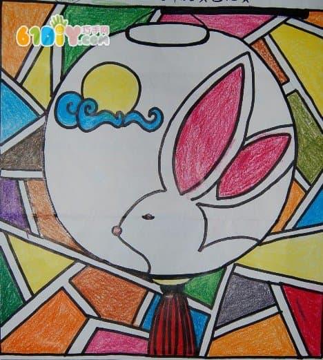 中秋节创意灯笼绘画贴画设计_儿童画作品_巧巧手幼儿手工网图片