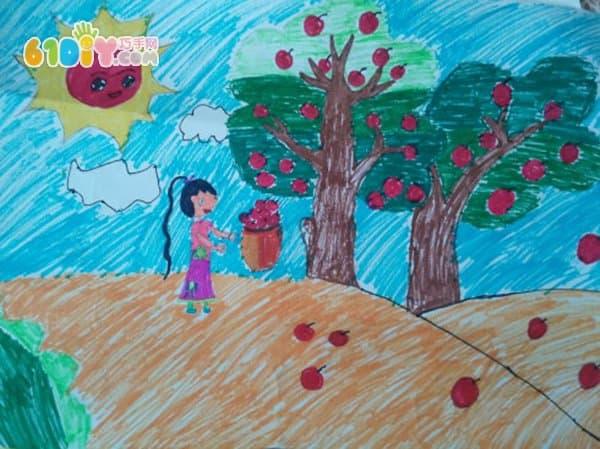 秋天儿童画作品